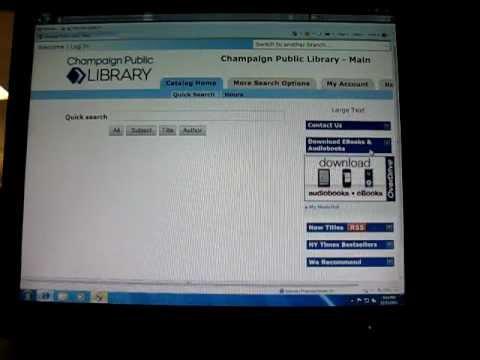 Champaign Public Library: Kindle EBook Lending Tutorial