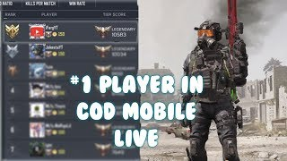 ????#1 RANKED PLAYER COD MOBILE LIVE???? Using the guns you want me to! Call Of Duty Mobile