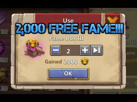 Castle Clash: 2,000 Free Fame!!!