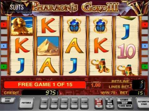 Фриспины на игровом автомате Pharaohs Gold III (Золото Фараона 3)