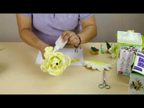 Arreglo Bodas De Oro Con Rosas Jumbo Foamy Youtube