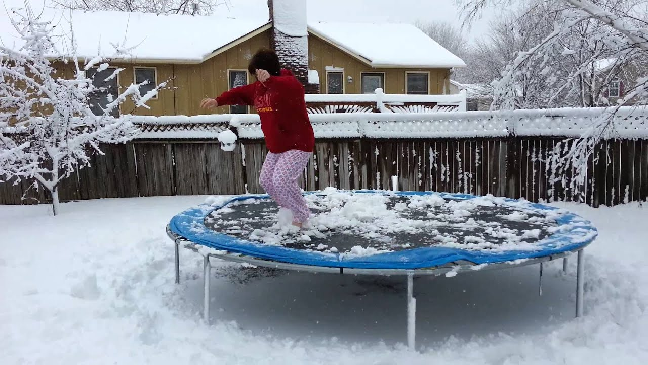 Trampoline During the Winter