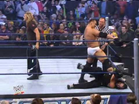 Triple H Saves Jeff Hardy from Edge and Vladimir Kozlov Assault