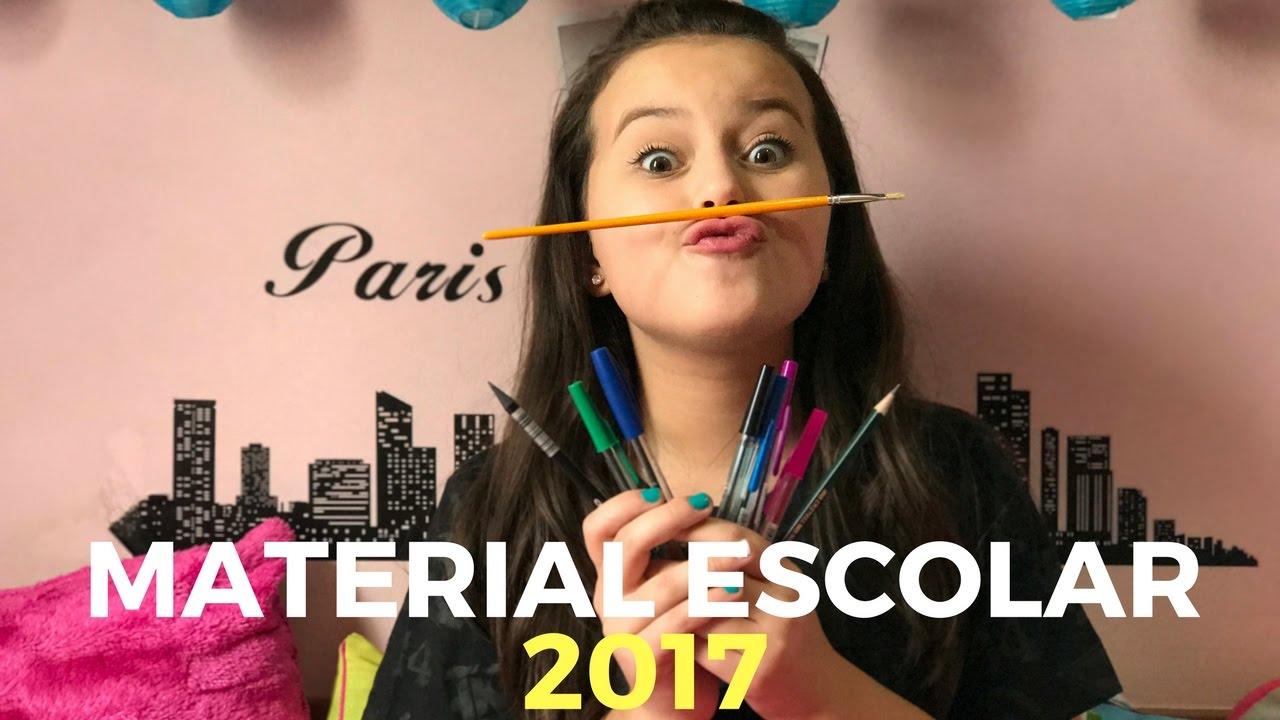 MEU MATERIAL ESCOLAR 2017 | Bia Jordão