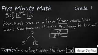 1st Grade Math Generating and Solving Problems