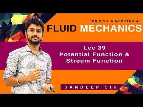 Lec 39 I Potential Function And Stream Function I Fluid Mechanics I GATE 2020