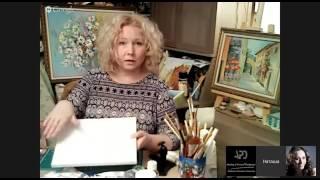 Декупаж. Как соеденить живопись и декупаж. Багет из рамы. Наташа Фохтина