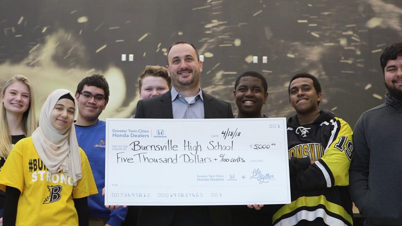 Good Life Is Better Thanks To Greater Twin Cities Honda | Burnsville High School