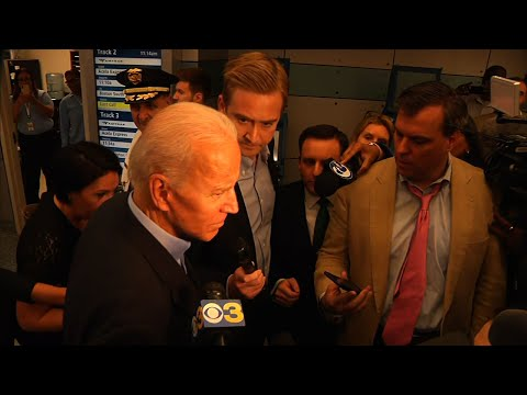 Biden briefly speaks with reporters in Wilmington