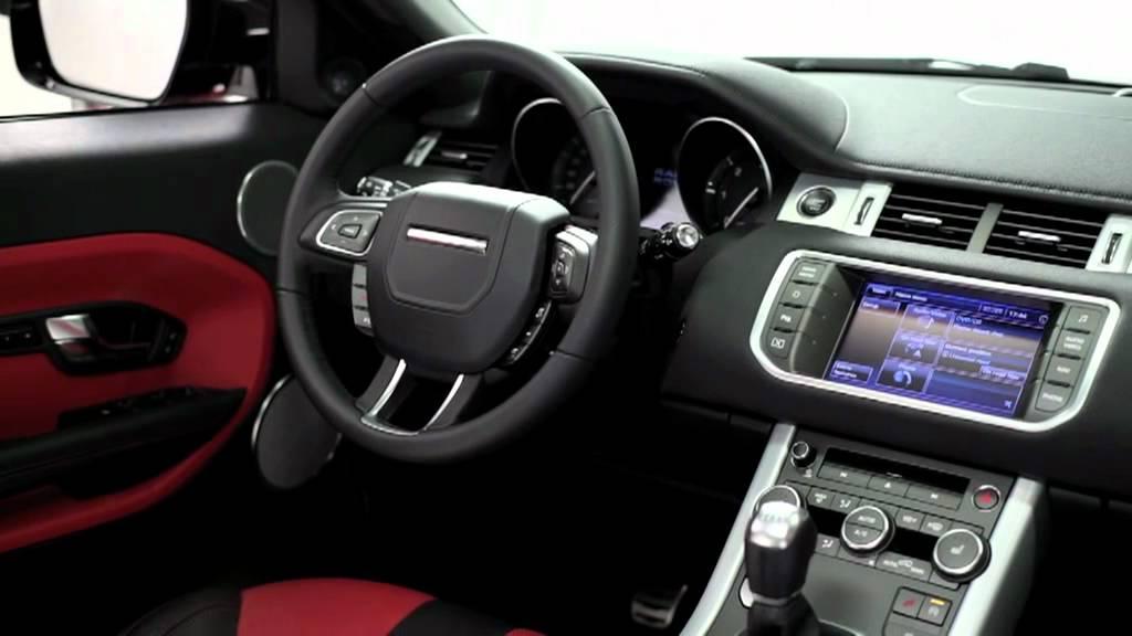 new range rover evoque compact suv luxury car interior youtube. Black Bedroom Furniture Sets. Home Design Ideas