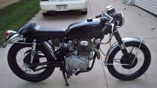 71 honda cl cb 350 cafe racer girl with the dragon tattoo replica bike