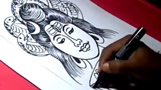 How to Draw LORD ESWARA /SHIVA DRAWING step by step for kids