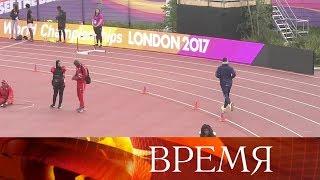Российские спортсмены начемпионате мира полегкой атлетике выступают под нейтральным флагом.