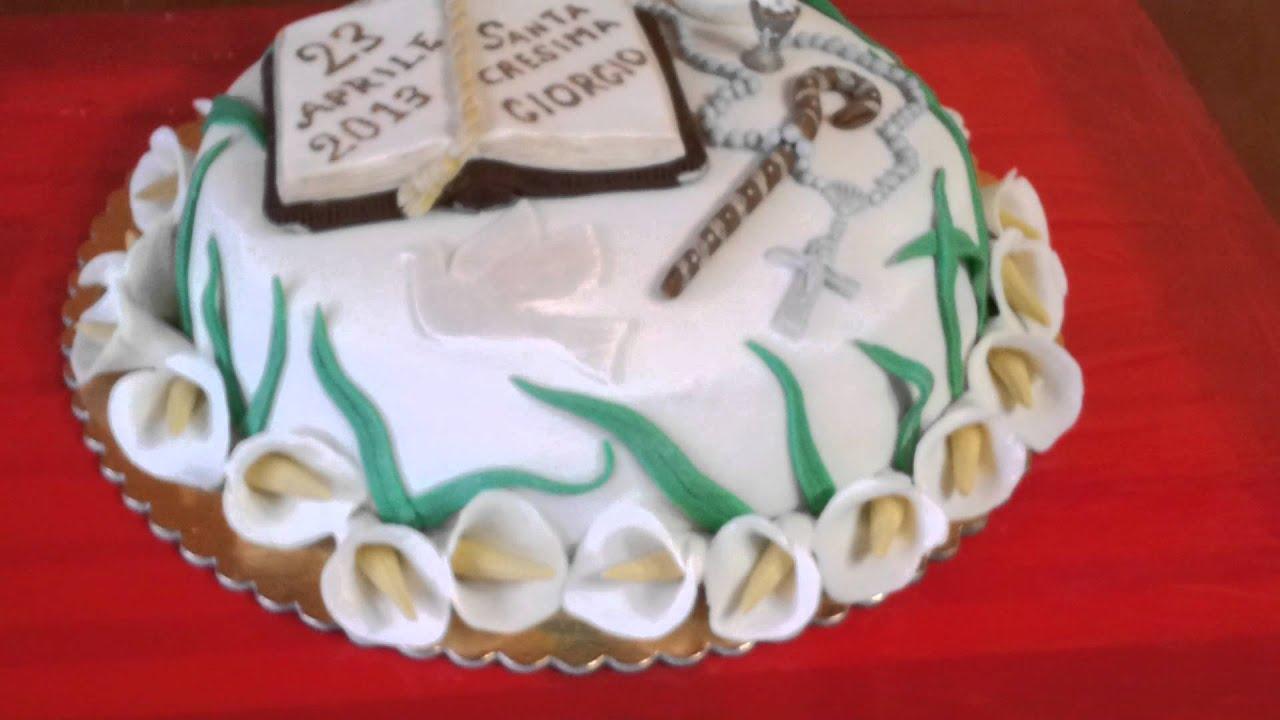 Favoloso Torta Cresima Giorgio - YouTube HO59