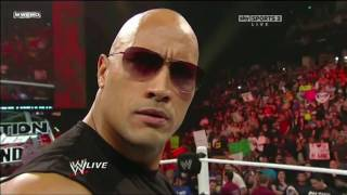 The Rock owns vintage Michael Cole HD!