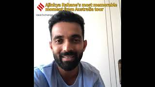 Ajinkya Rahane's most memorable moment from Australia tour