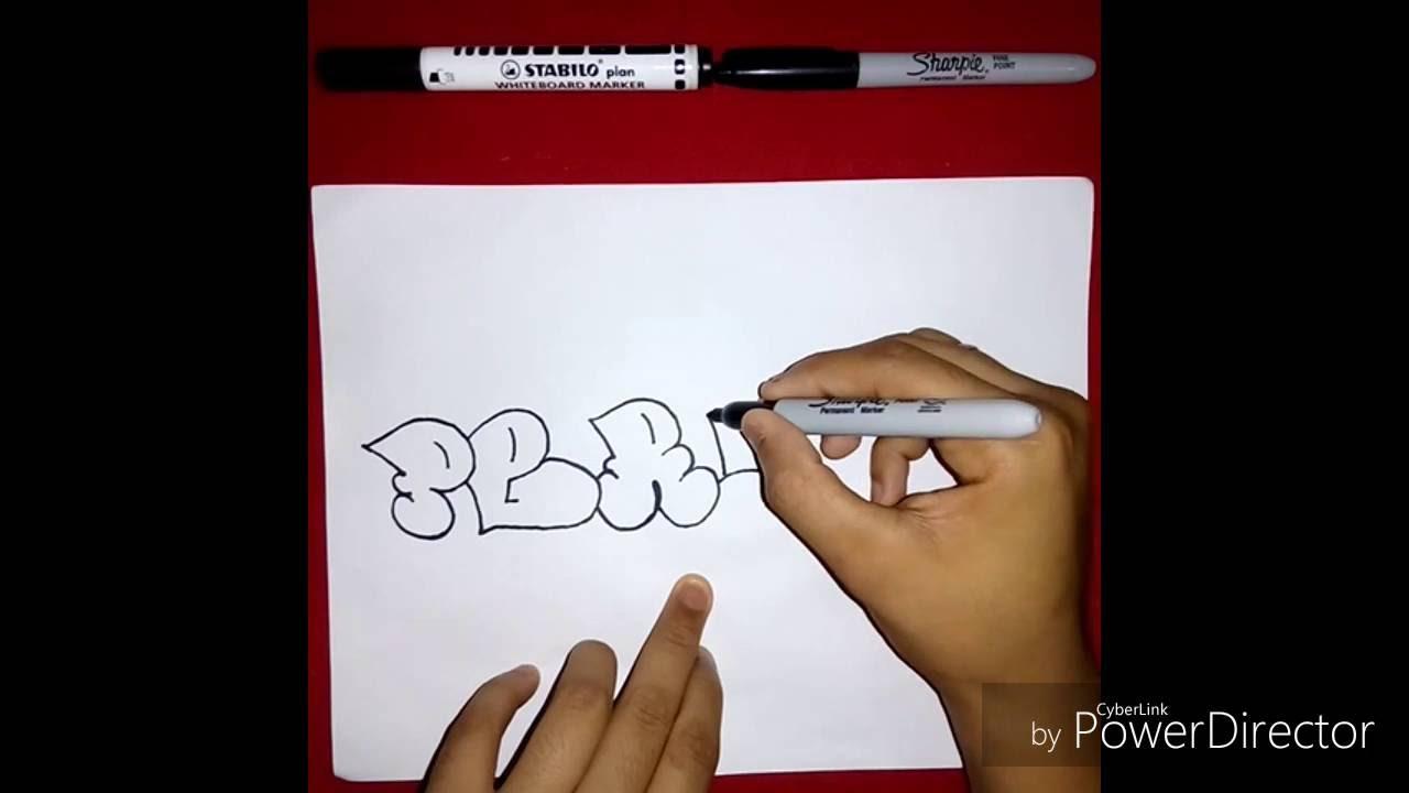 Como Dibujar La Palabra Perdon En Graffitis (Pedido De Suscriptores ...
