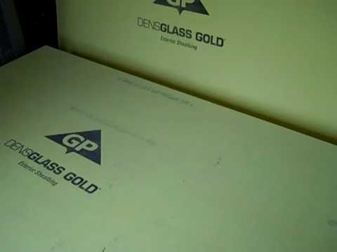 Gp Densglass Gold Exterior Sheathing Review Youtube