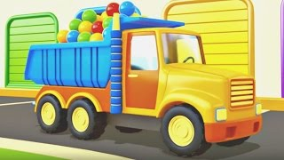 Helper cars. Cartoons and animation for kids. Dump truck and cement mixer #helpercars.