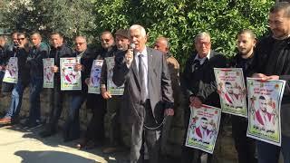 محافظ بيت لحم كامل حميد يشارك بالوقفة التضامنية مع الاسير عيسى عواد