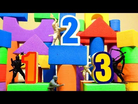 Download NUMBER NINJAS! Learn Numbers 1-10 with our Biggest Toy Towers Ever!