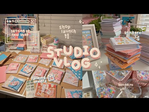 launching my small business & packing orders // studio vlog 007