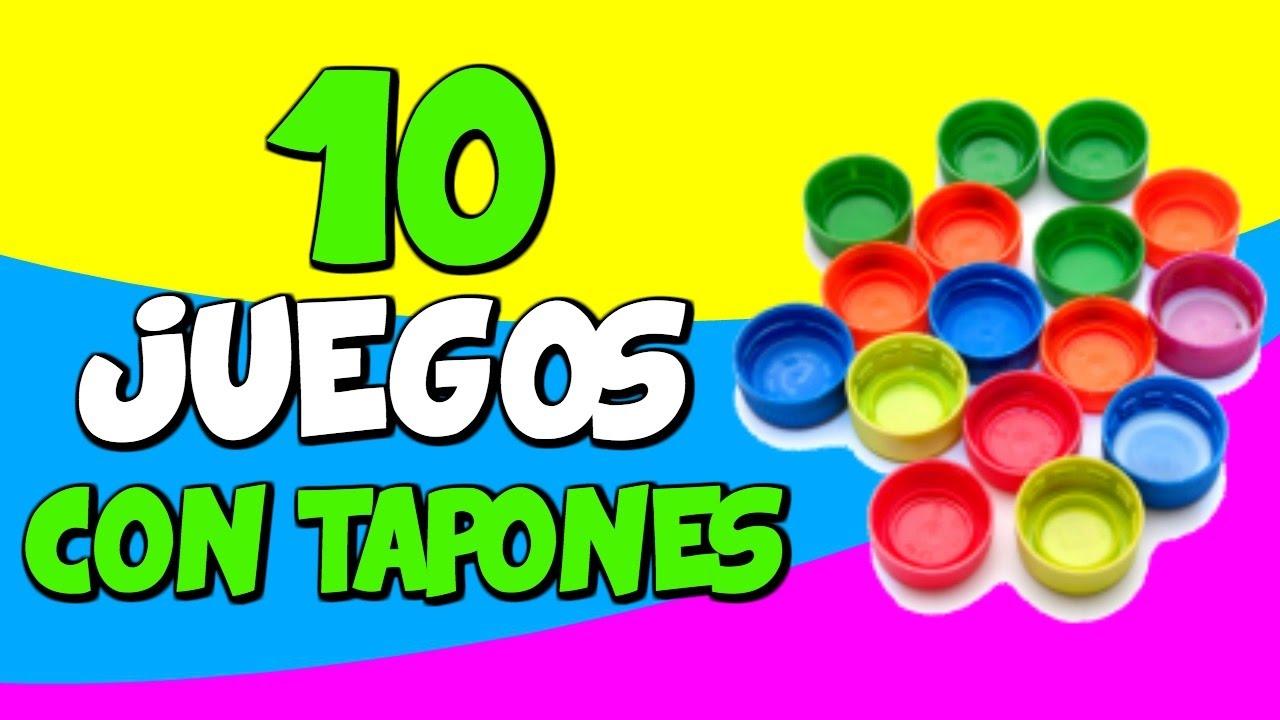 10 Juegos Con Tapones Reciclados Youtube