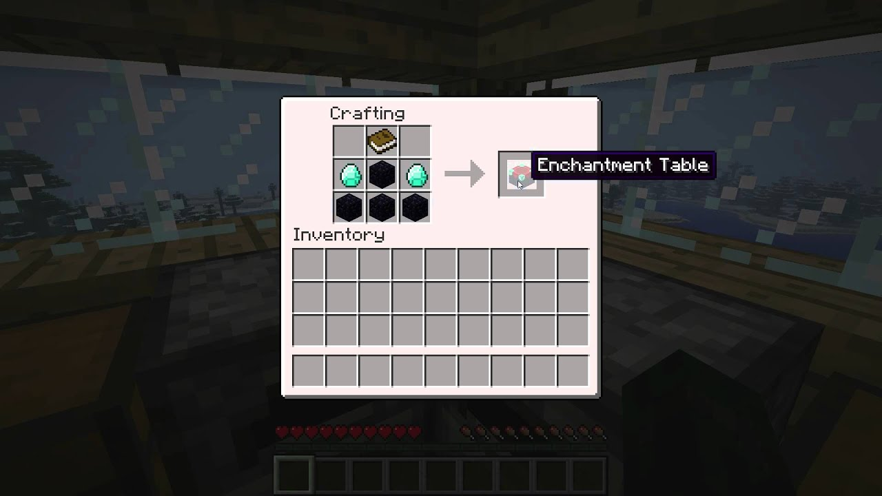 Minecraft how to make an enchantment table youtube for Minecraft coffee table