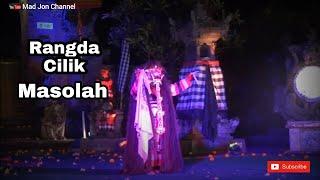 Penari Rangda Cilik Jro Mangku Alit Baba Mesolah ring Ubud