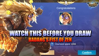 WATCH THIS BEFORE YOU GET BADANG'S FIST OF ZEN SKIN - MLBB