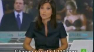 Berlusconi, D'Addario, Tarantini: feste, lusso, ragazzine e cocaina (TG spagnoli)