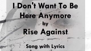 [HD] [Lyrics] Rise Against - I Don