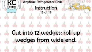 Anytime Refrigerator Rolls - Kitchen Cat