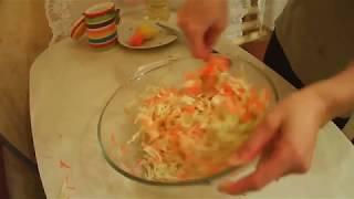 Витаминный салат очень вкусно и быстро