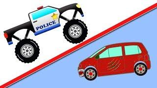 Машинки. Полицейская машина. Сборка на 3D принтере