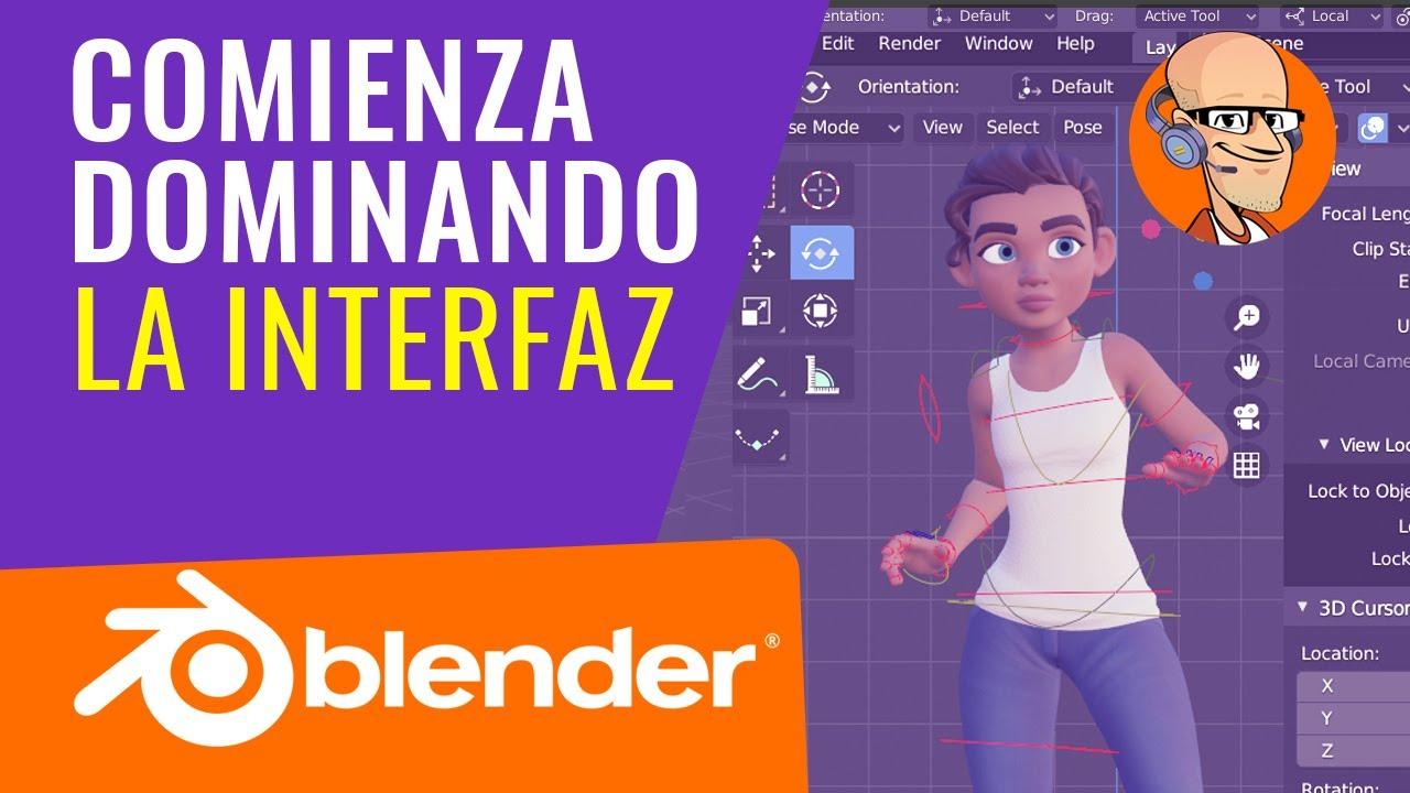 Download Tutorial BLENDER 2.93 de INCIO en la Interfaz | #1.02 |Curso Animacion 3D