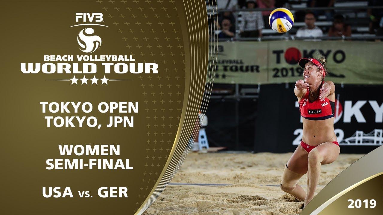 Women's Semi-Final: USA vs. GER | 4* Tokyo (JPN) - 2019 FIVB Beach Volleyball World Tour