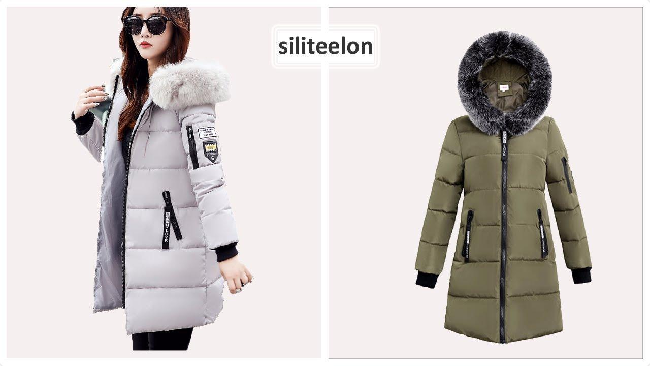 Верхняя одежда с Aliexpress HVMODLZV Зимние женские куртки с .