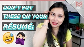 Homebased Resume Do's and Dont's | Work from Home