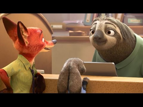 Sloths Run the DMV in the New 'Zootopia' Trailer