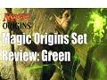 Magic Origins Set Review: Green..MTG