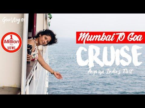 Mumbai To Goa Trip On Cruise | India's First Angriya Cruise | Drone Shots | 4K