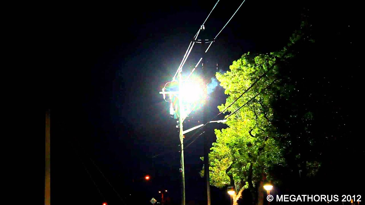 Transformer explosion - YouTube