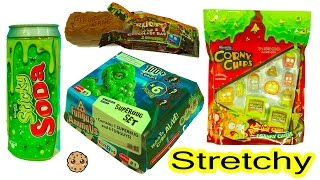 Gross Lunch of Stretchy Grossery Gang Chips Bag + Sticky Soda & Fungus Amungus Super Bug Surprise
