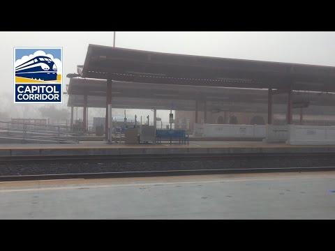 Amtrak Capitol Corridor departing San Jose Diridon Station