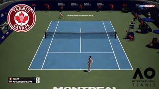 🏸 SIMONA HALEP VS ANASTASIA PAVLIUCHENKOVA | MONTREAL CANADA | AO INTERNATIONAL TENNIS 2018