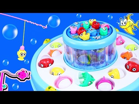 GO GO FISHING - Let's Go Fishing Game! Double Decker Fish Board Game - FAMILY KIDS FUN
