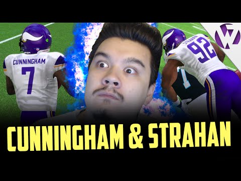 BOSS STRAHAN & BOSS CUNNINGHAM MAKING BIG PLAYS! Madden 16 ULTIMATE LEGEND MICHAEL STRAHAN GAMEPLAY