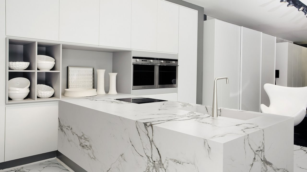Beautiful White Kitchen Worktop Ideas Part - 5: White Kitchen With White Granite Worktops Ideas