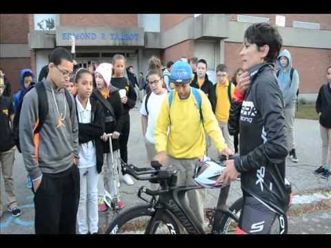 Talbot Innovation School Principal Bikes to Work October 9 2014